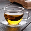High Borosilicate Glass Flower Tea Mug Small Tea Cups With Saucers
