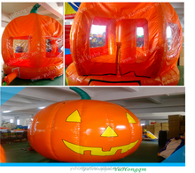 Halloween pumpkin inflatable bouncy, best selling amusement park for sale
