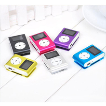 Mini USB Metal Clip MP3 Player with LCD Screen earphones Support SD TF Card Slot Digital mp3 music player manual