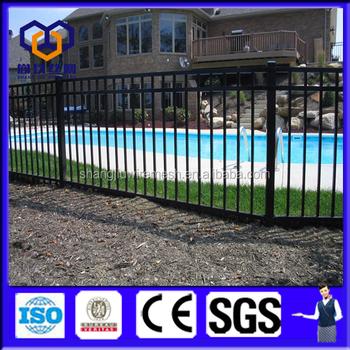 China Supplier Black Backyard Metal Fence / Decorative Metal Garden Fence /  Metal Horse Fence Panel