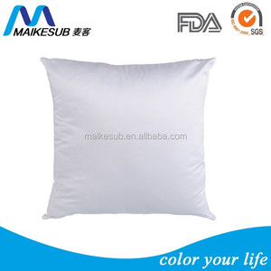Sublimation Blank white pillow cover square shape pillow cover for heat transfer printing
