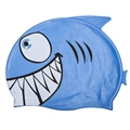 New Child Kids Cartoon Swimming Cap Fish Shark Pattern Swim Diving Hat Waterproof Silicone Hats Girl