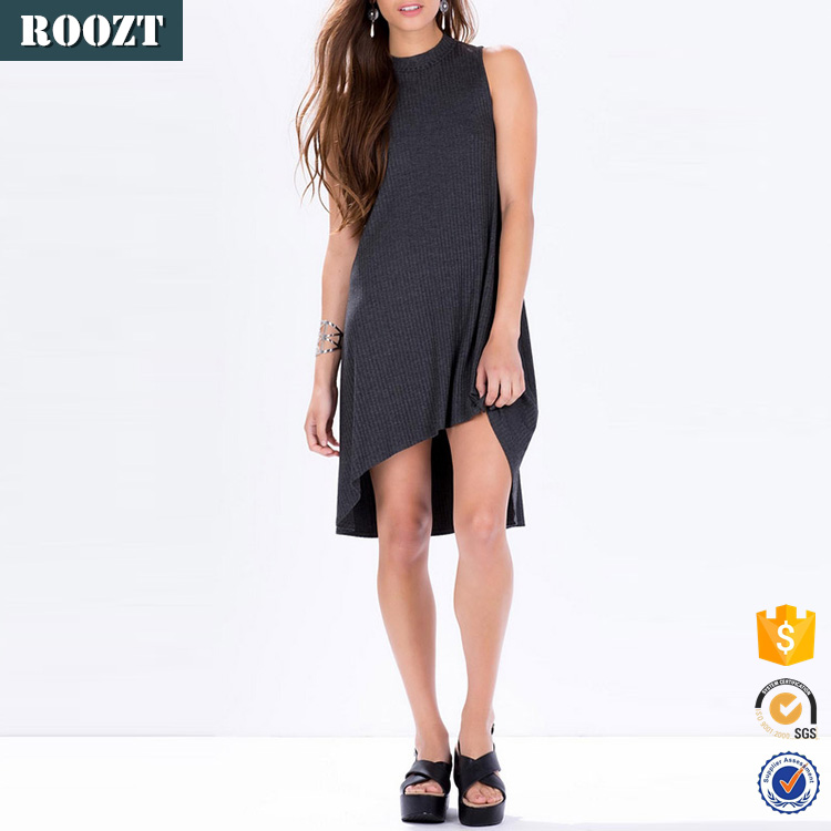 Hot sale latest dress designs halter neck dull unique design knit fabric womens clothing