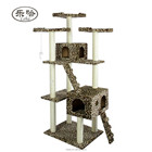 "Cats Scratch Scratching Post 73"" Large Deluxe Leopard Cat Tree Condo Furniture Scratch Post Pet House"