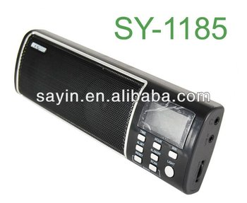 Sy1185 Radio Fm Auto Scan Lcd Clock Alarm Radio With Big Speaker ...
