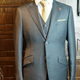Stylish Tailor Made 1 Pieces Light Grey Men Suit with Slim Cut