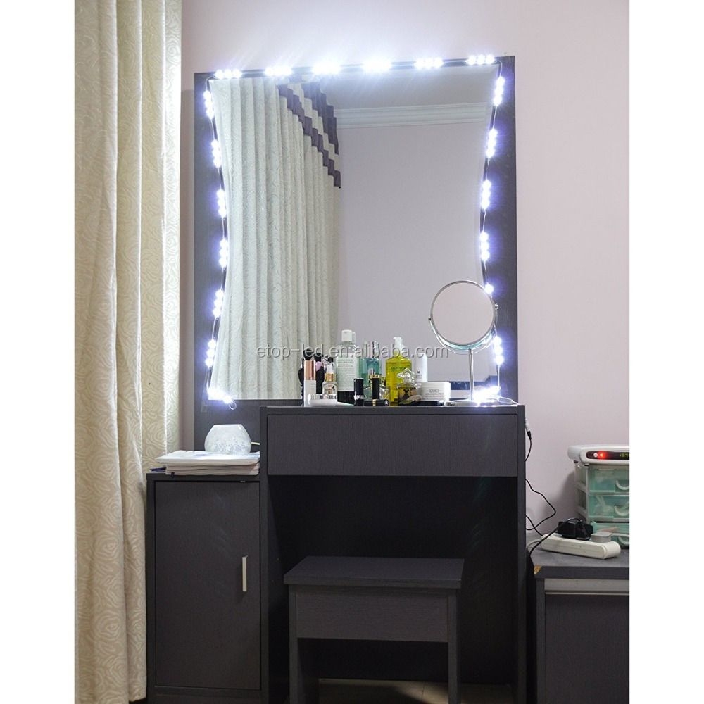 Lighted Mirror LED Light for Cosmetic Makeup Vanity Mirror Kit, 20 LED Lights