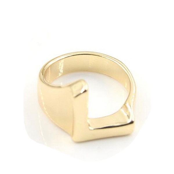 Fashion New Gold Plated Letter L Shape Alphabet <strong>Ring</strong>