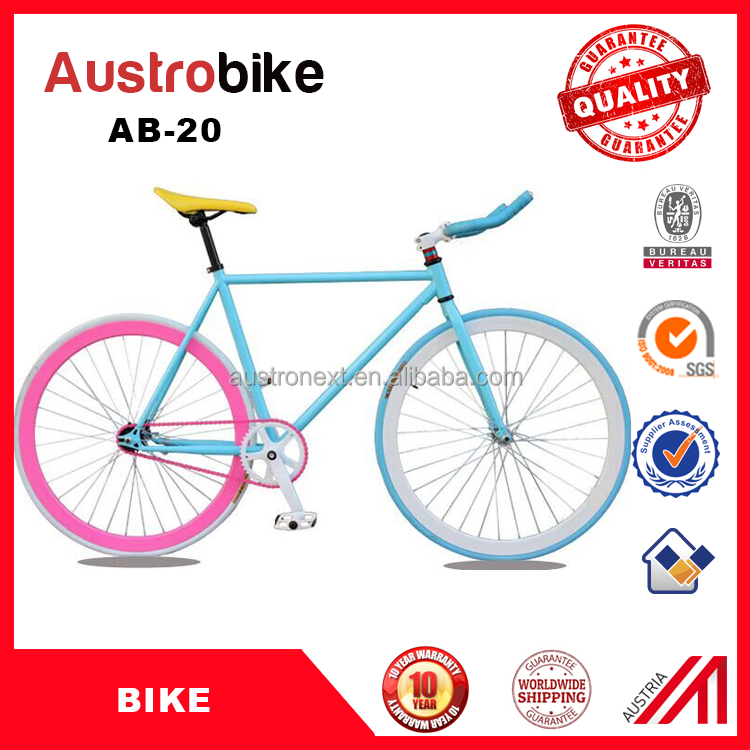 Track//Fixie//Fixed Gear//Retro Vintage Bike Drop Bar Handlebar 25.4mm Pink