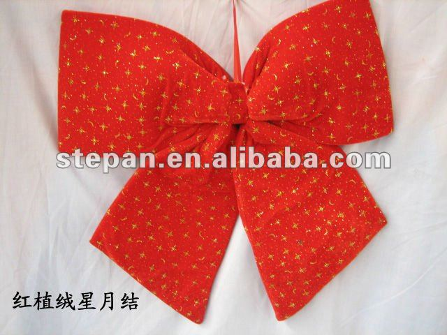 WY-7002 red outdoor christmas bow
