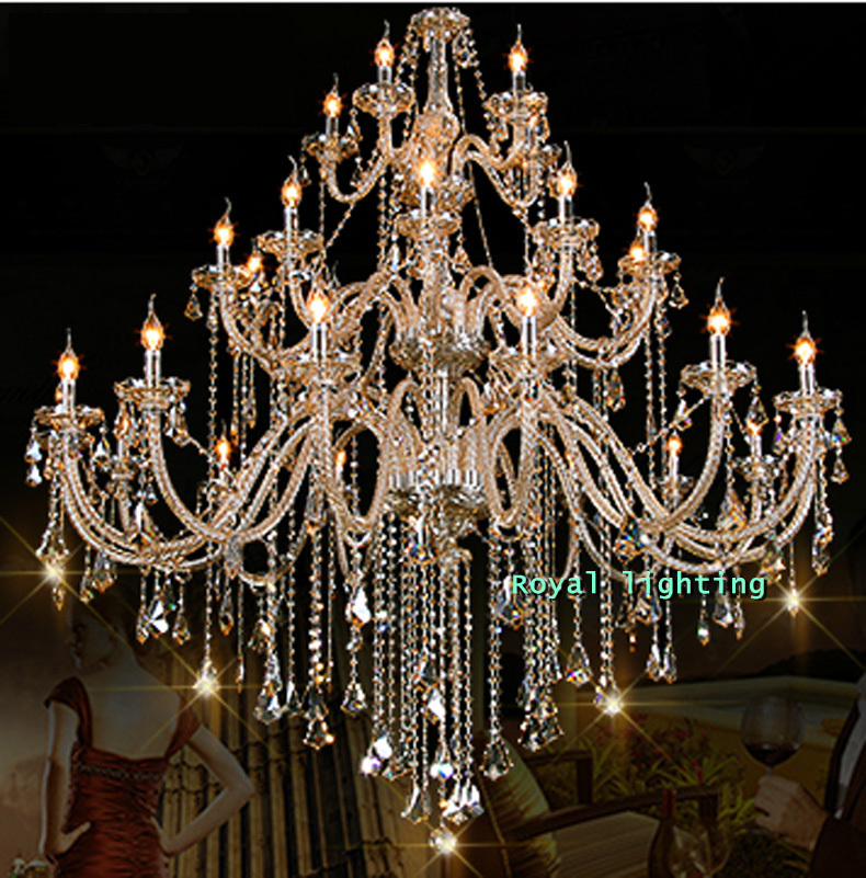 30 Arms Luxury Chandelier Villa Hotel Large Crystal