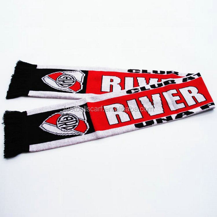 Cheap products to sell regular density acrylic soccer scarves football scarf