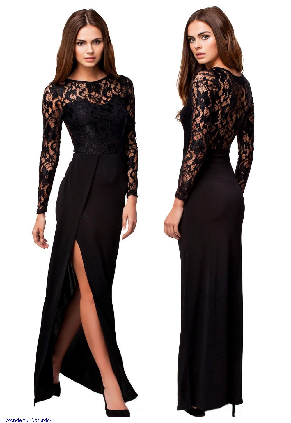 4098a0aaff2 Elegant Maxi Dresses With Sleeves - Data Dynamic AG