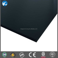 black recycled extruded hdpe sheeting 2400 x 1200