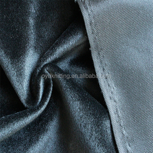 Polyester Black Color 1mm Short Pile Velboa for Garment Lining Velboa Material