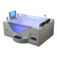 High quality massage bathtub with tv whirlpool bathtub massage