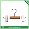 wooden mini hanger, wooden small hanger for kids, baby wooden hanger with clips
