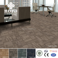 Level loop carpet tile for floor with pvc backing