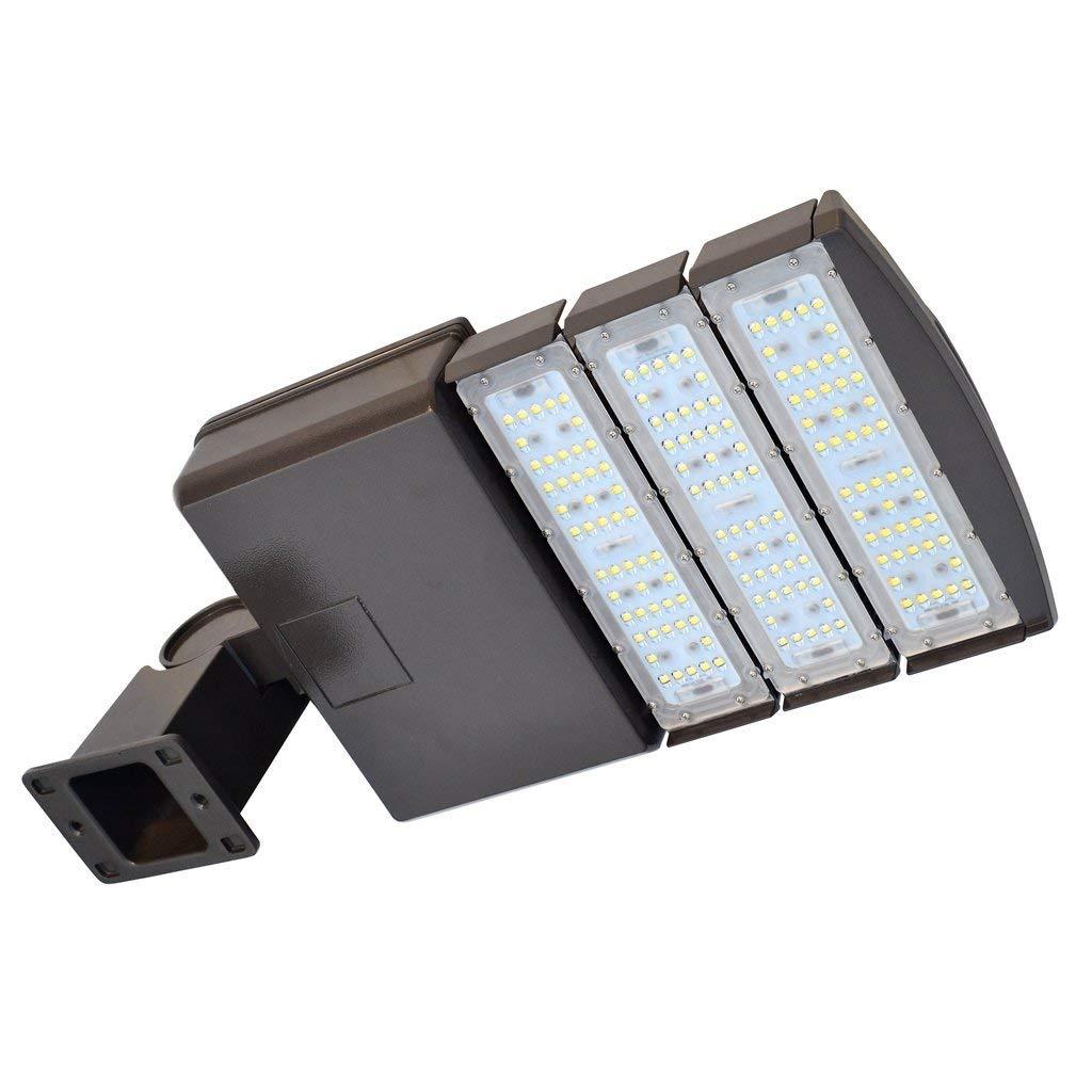 Docheer 150W LED Parking Lot Light 16500 Lumens (500W Eq.) LED Shoebox Pole Light Fixture Outdoor Indoor Flood Street Stadium Road Lighting Daylight White 5300K