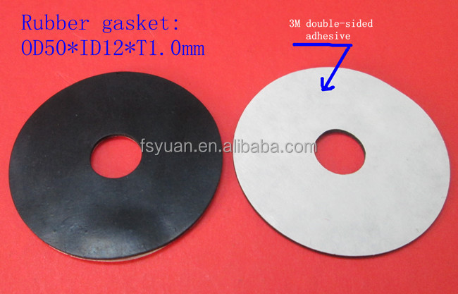 Adhesive Rubber Round Mechanical Gasket / Waterproof Airtight Oil ...
