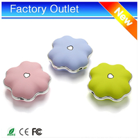 Electronic novelties cute clover wholesale powerbank 4000mah hand warmer reusable