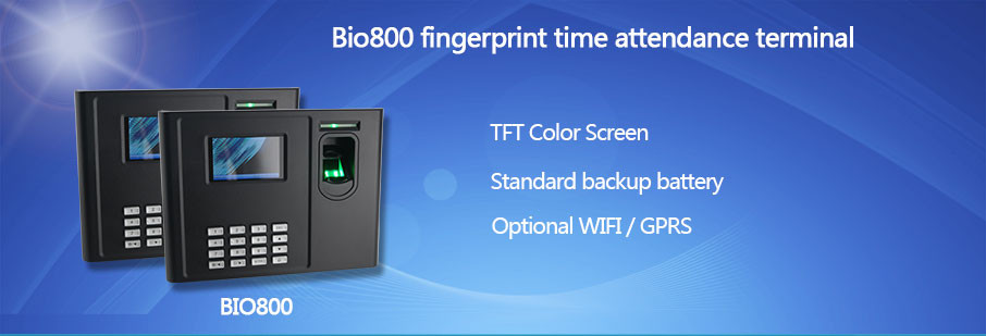 Hf-bio800 Color Display Mysql Database Biometric Fingerprint Time ...