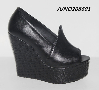 2014 summer style platform wedge shoes chunky wedges for