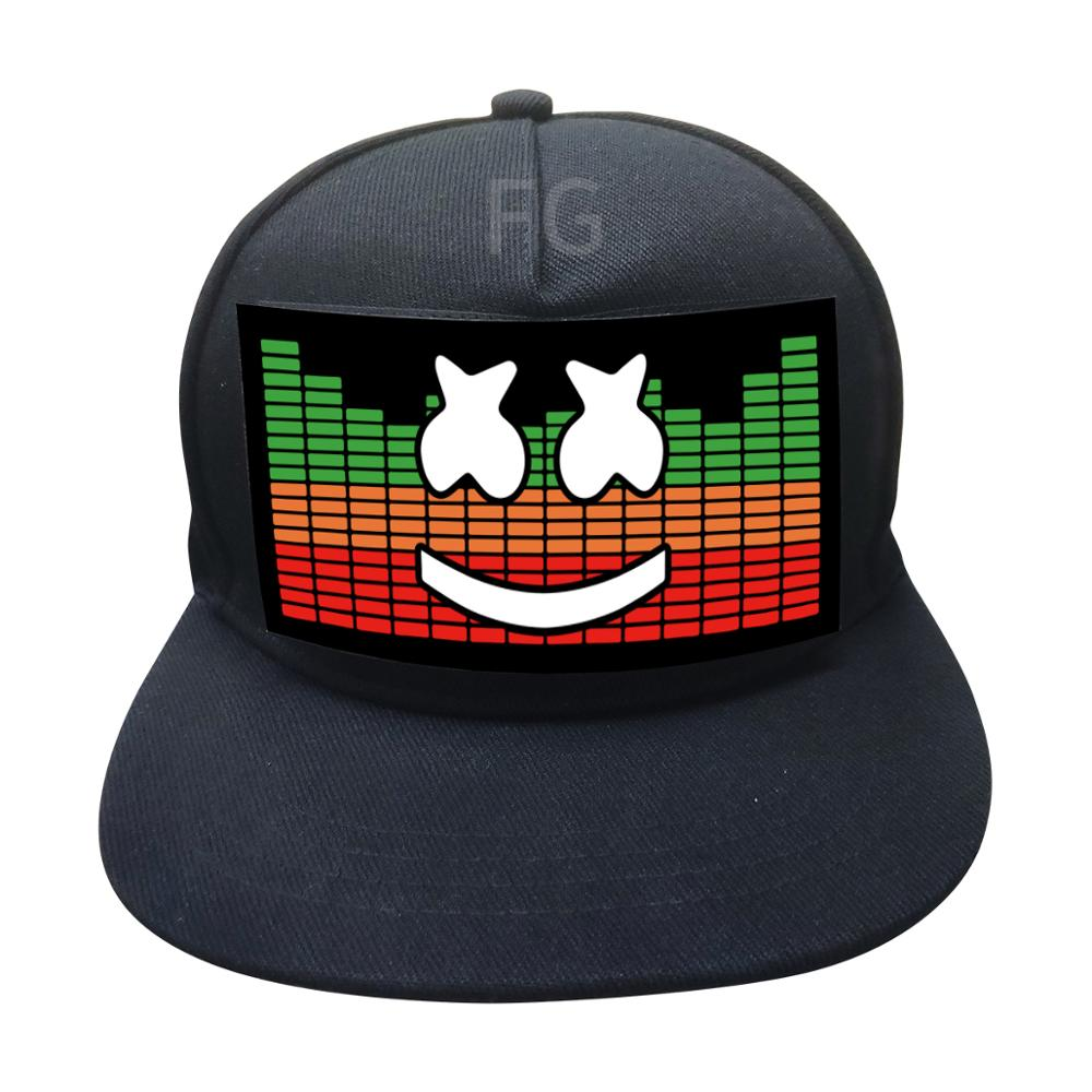 new arrival high quality el sound activated led light baseball cap