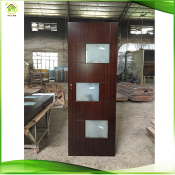 Stylish Cherry Solid Wood Interior Shower French Doors For Sale