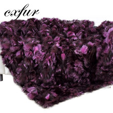 CX-D-82A Superb Real Top Quality Rex Fox Sofa Fur Plate