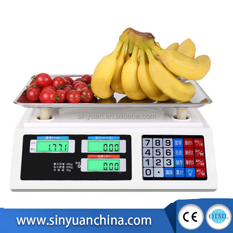 New style stainless price computing 30kg acs series price computing scale