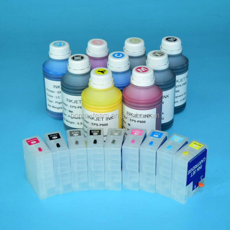 80ml Refillable ink cartridge with ARC chip and pigment ink for Epson Sure Color P800 printer