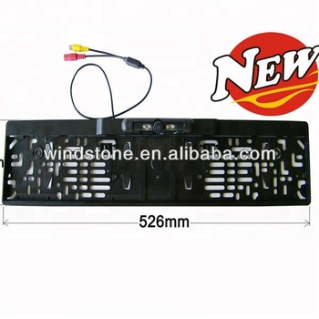 EU Official Plate Frame Parking Car Camera Rearview