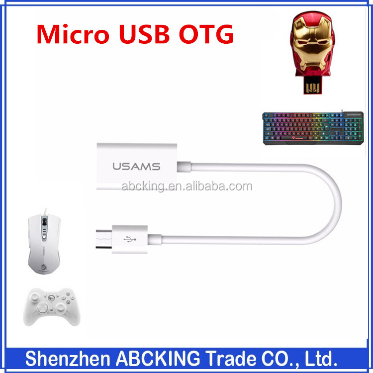Micro USB OTG Cable Adapter Android Converter USAMS USB 2.0 Phone OTG Port For Samsung Galaxy Tablet LG Nokia MP3 MP4