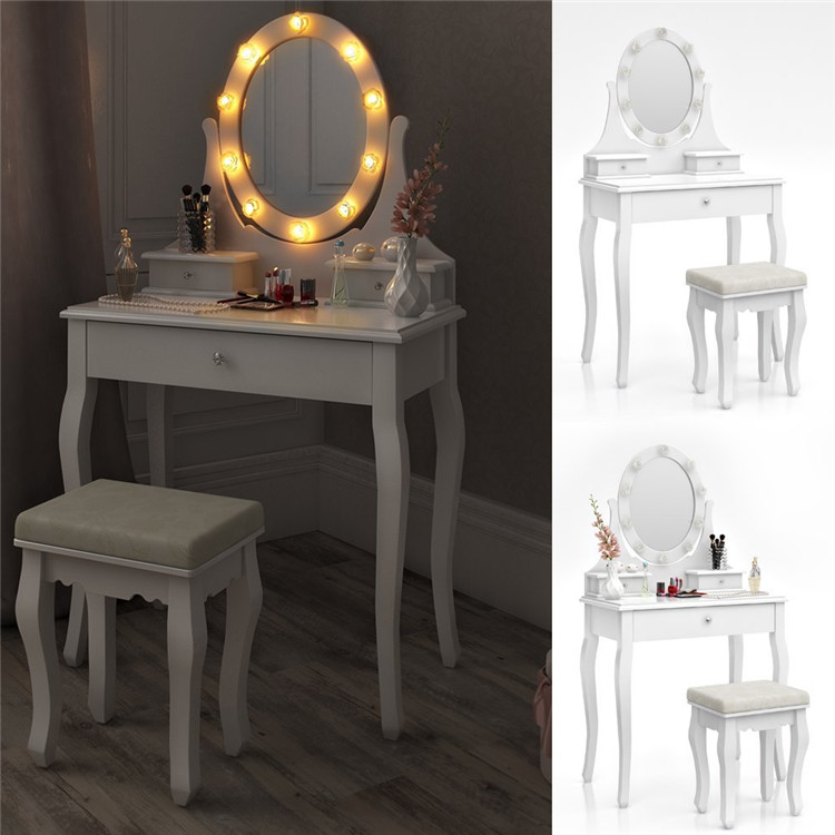 Gloss White 3 Drawer Buy Cheap Dressing Table With Led Lights