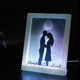 Custom designs acrylic photo frames wholesale plastic wedding picture decorative led color changing acrylic photo frame