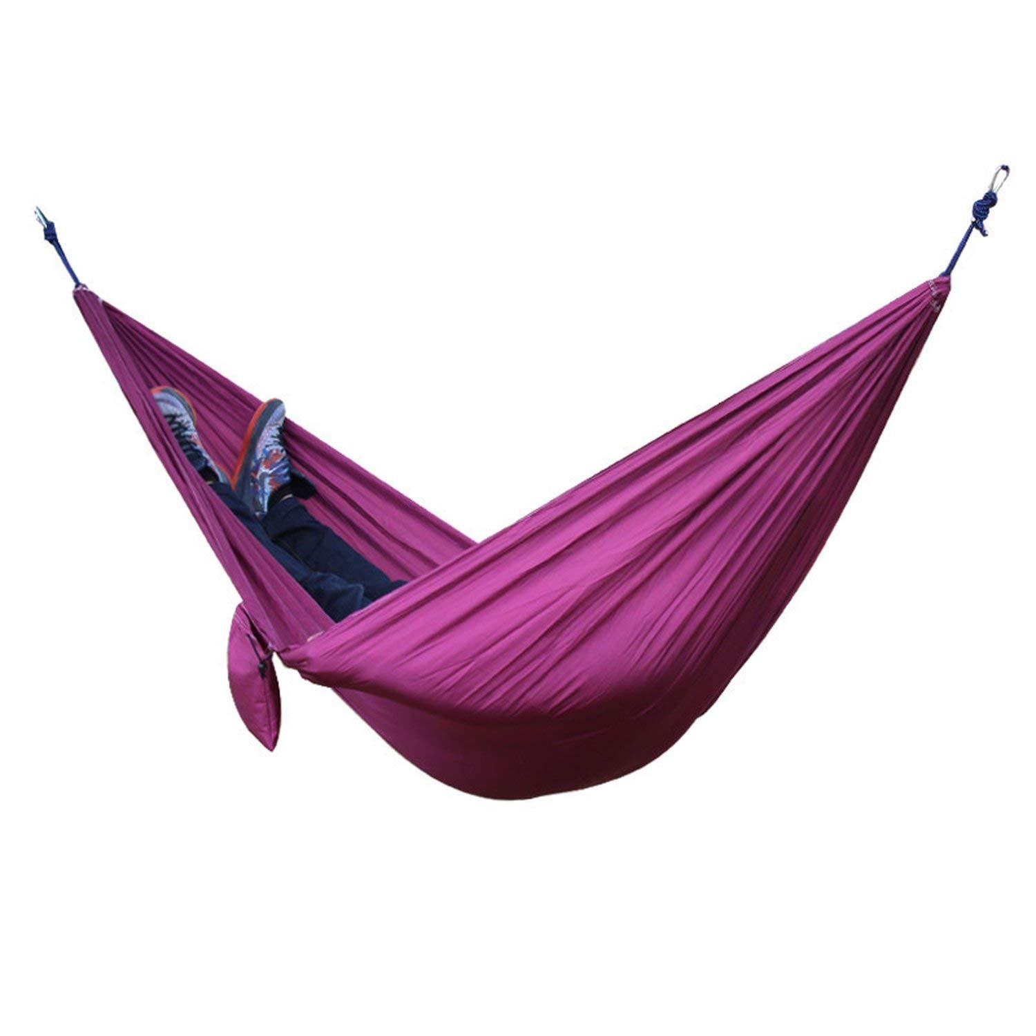 Mandaartins 24 Color 2 People Portable Parachute Hammock Camping Survival Garden Flyknit Hunting Leisure Hamac Travel Double Person Hamak,purple