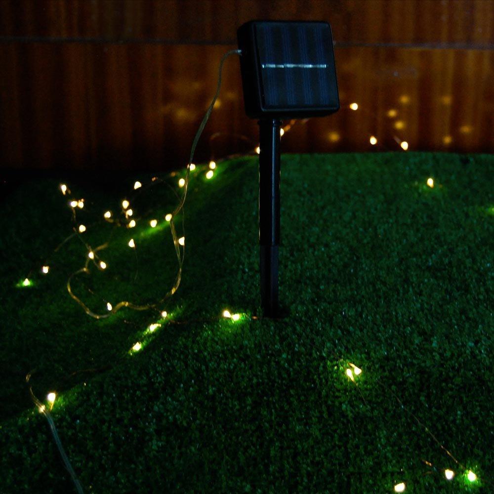 BestLink 100LED 10-Meter (32Ft) Warm White 2-Mode Solar String Light