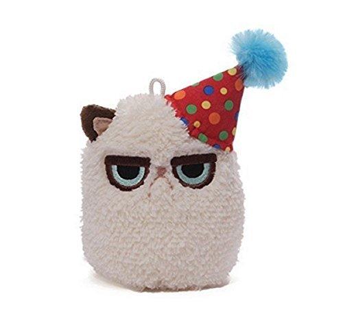 "Gund Grumpy Cat Mini Plush (Birthday), 4"""