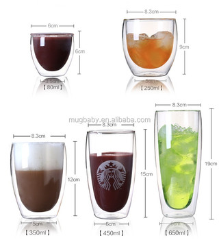 Bodum Double Wall Glass Coffee Mug With Various Size Buy Bodum
