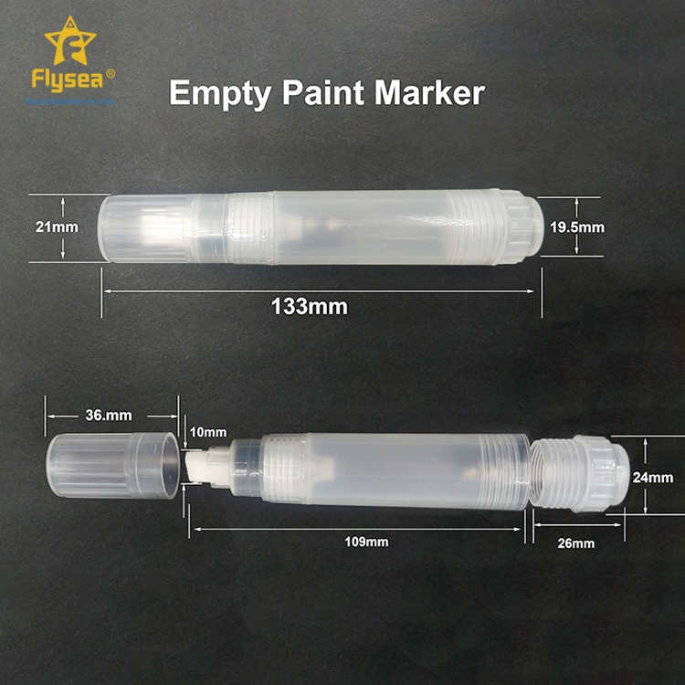 Customized manufacturers supply plastic color liquid chalk markers empty metal paint pens wet erase marker