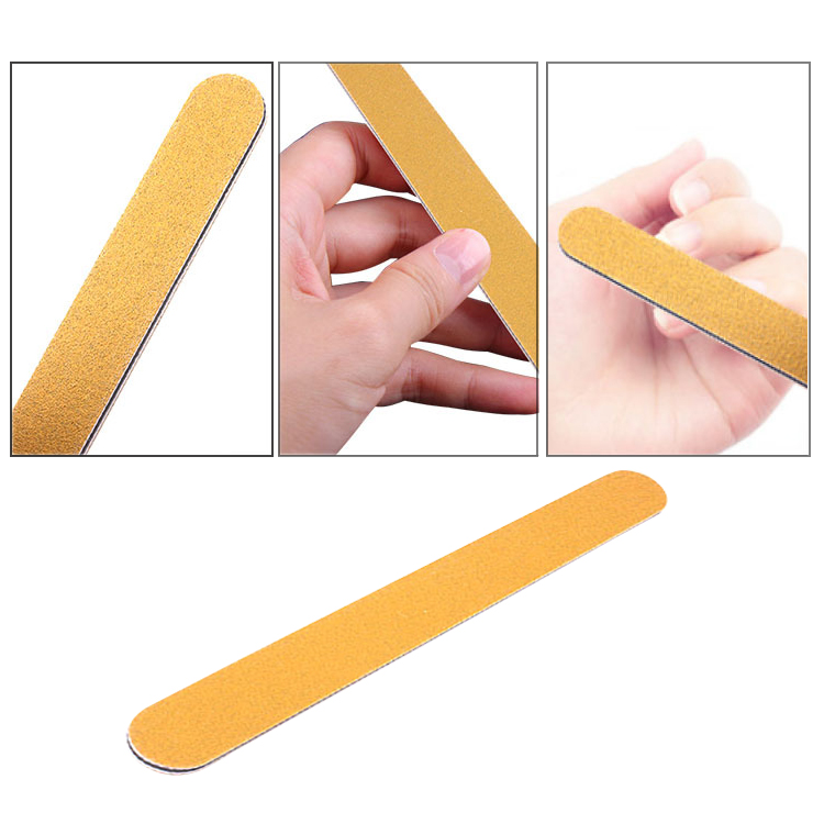 Bulk cheap custom private label file for nail care environmentally friendly repeatable yellow Korea nail file