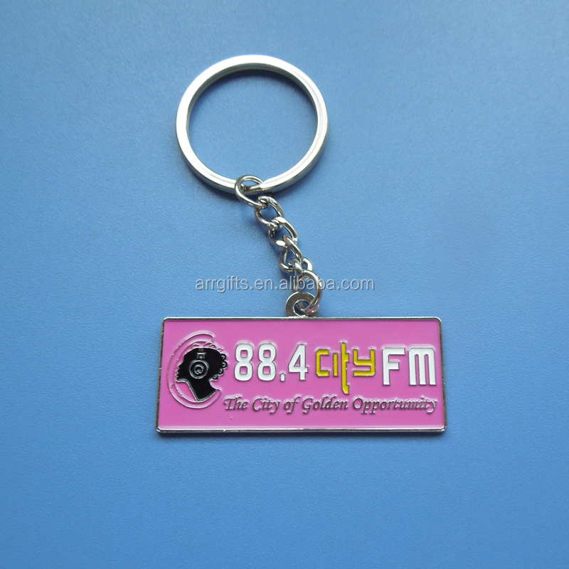 Pink Color Company Logo Design Radio Station Promotional Gifts Custom Metal Keychain Buy Pink Color Company Logo Design Custom Metal Keychain Radio Station Promotional Gifts Custom Metal Keychain Metal Souvenir Gift Keychain With