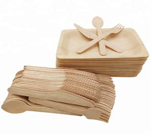 Eco Friendly Disposable Biodegradable Compostable Wooden Cutlery