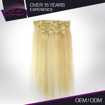 Charming Human Authentic Clip In Remi Gold Hair Extensions 14 22 Inch