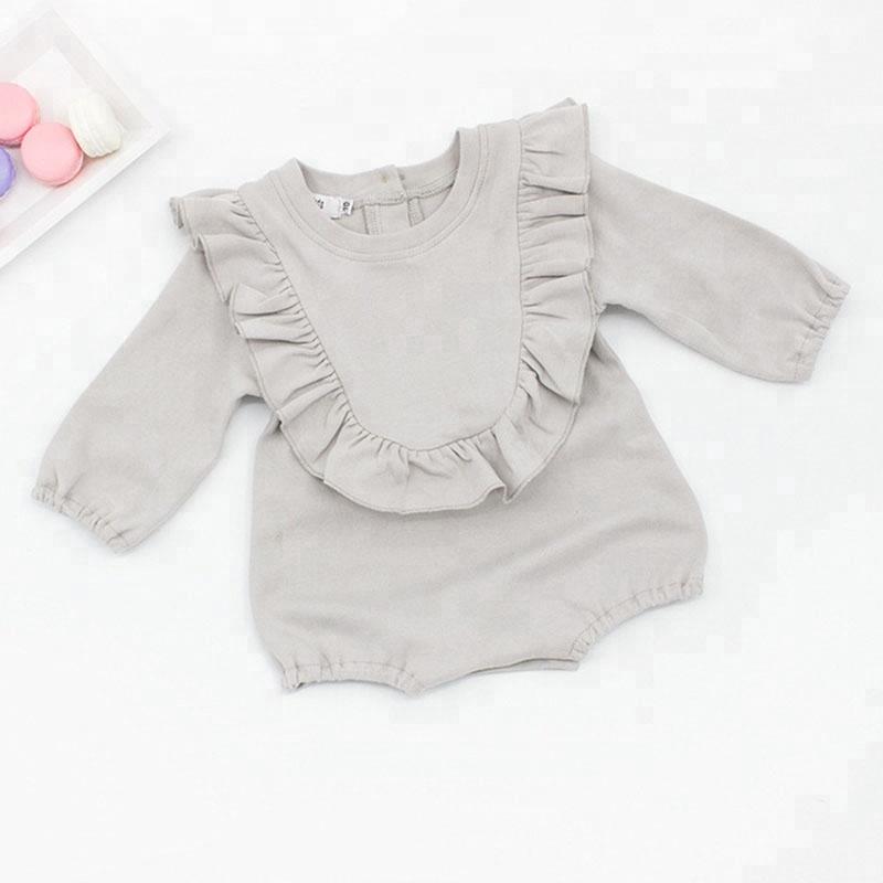 c612fb106a 2018 ropa de bebé recién nacido de algodón mameluco de verano volantes sin  mangas ...