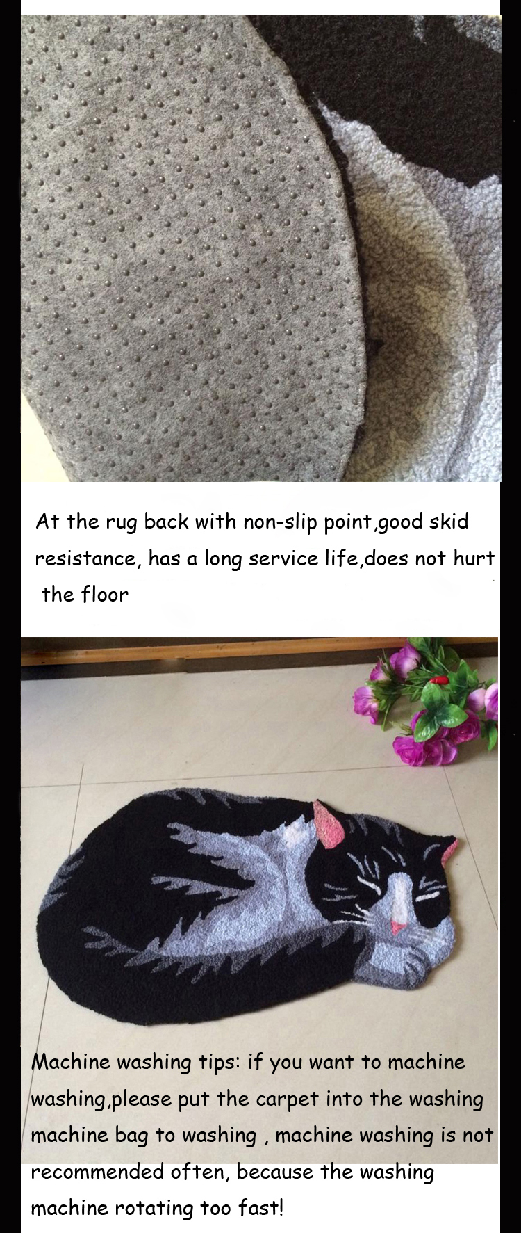 286b0733808dd1 Handmade Knitting Embroidery Cute Black Cats Rug and Carpets Kid children  Room Rugs Foot Mat Machine Washable Non-slip Doormat - us515