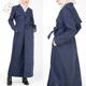 New Fashion Denim Trench Coat For Muslim Women