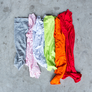 New colored cotton mixed 10kg bag rags