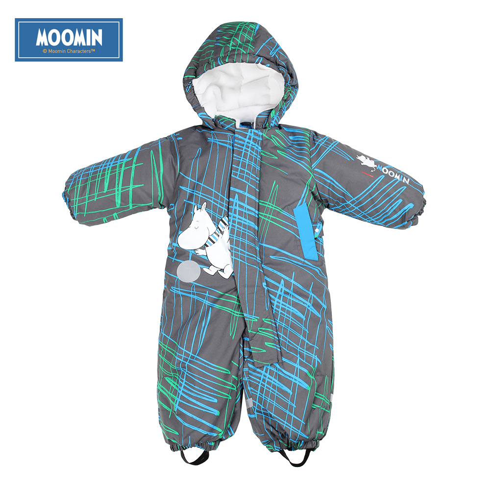 Moomin winter baby romper 2015 NEW fashion Cotton Covered Button Hooded Character baby Boys snowsuit blue warm baby clothes